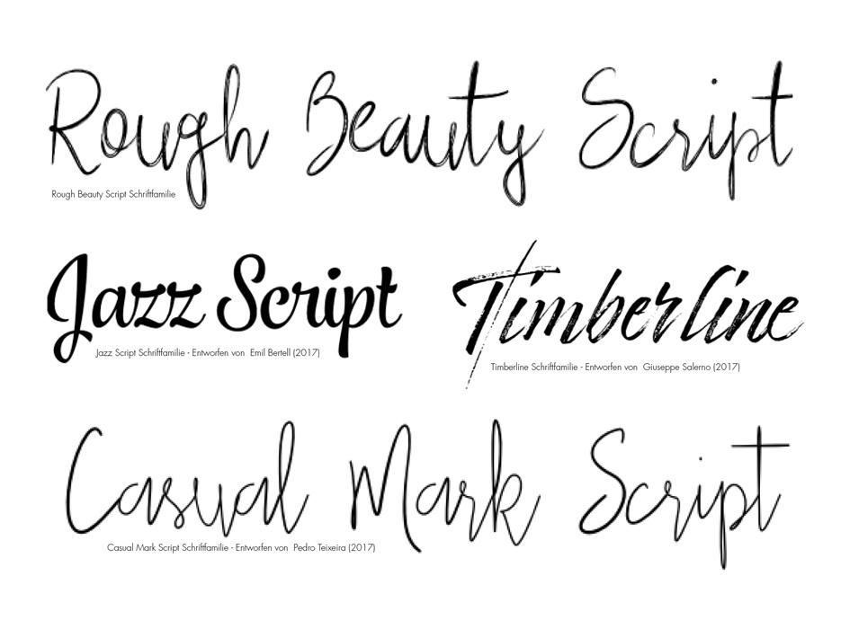 Auswahl an neuen Trends in der Typografie – Aksis Werbeagentur und Internetagentur Ulm – Handwritings