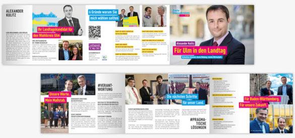 Innenansicht des Flyers von Alexander Kulitz (FDP) aus dem Wahlkampf für die Landtagswahl 2016