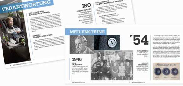 Innenansicht des Produktkatalogs bzw. der Imagebroschüre von ABC Tautenhahn.