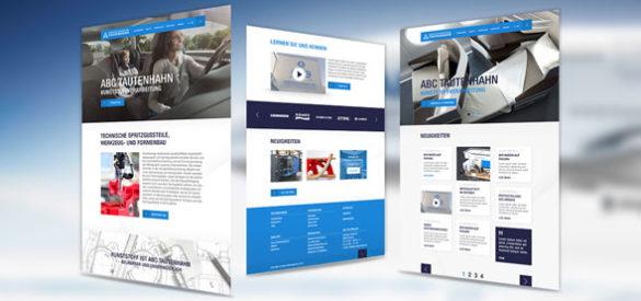 Übersicht über 3 Unterseiten der Website von ABC Tautenhahn