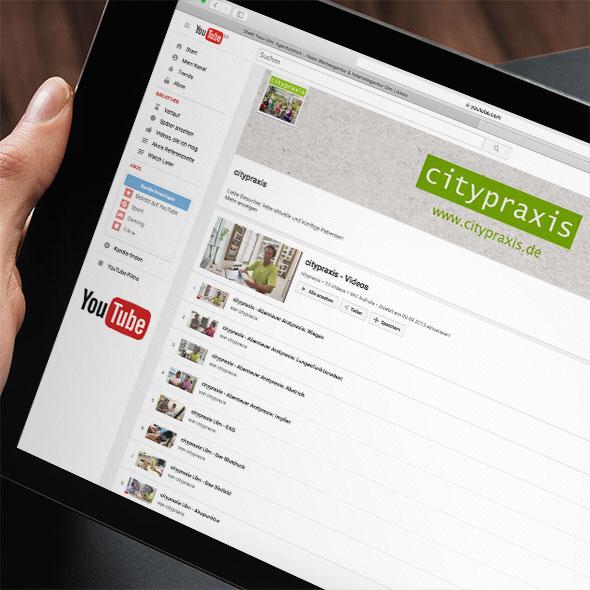 Die AKSIS Werbeagentur entwickelte für die Citypraxis Ulm Praxis-TV. Konzeption & Planung