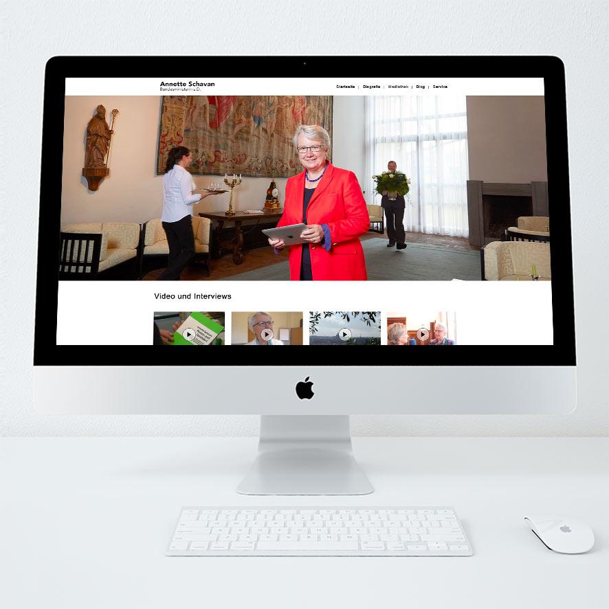Annette Schavan Website